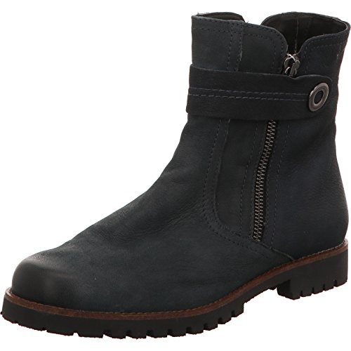 Flat Boots Caprice Womens 3 Nubuc Ankle Ocean zwTqt
