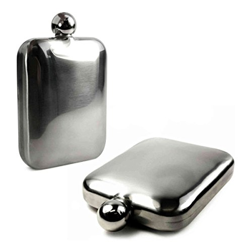- E-Volve Hip Flask - 6 oz - Stainless Steel - Round - Special Occasions (Wedding, Sports, Golf, Best Man, Fathers' Day, Etc.)