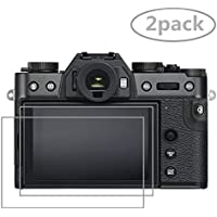 Crystal Clear Tempered Glass Screen Protector for Fujifilm X-T30, [2pack] Screen Protective Film Glass for Fujifilm X-T100 X-T20 X-T10 XXF10 X-E3 X-A2 X30 X-T30 Digital Camera
