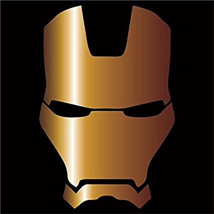 Iron man vinyl decal sticker gold 4
