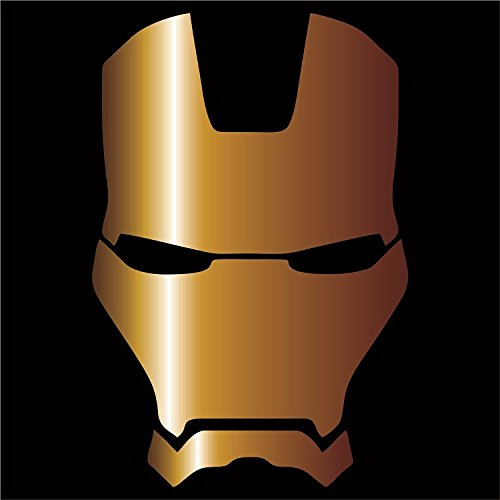 Cove Signs Iron Man Vinyl Decal/Sticker - Gold 4""