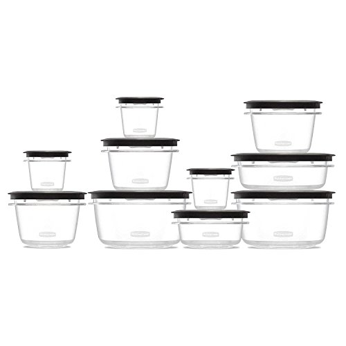 Rubbermaid Premier 22-piece Food Saver Storage Container Set with Easy Find Lids- Grey