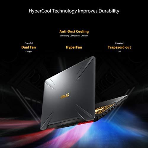 Asus TUF Gaming FX505DT-BQ028T Gaming Laptop (Black) -AMD R7-3750H 2.3 GHz,8 GB RAM, 1TB HDD + 256 GB SSD, Nvidia GeForce GTX1650 4GB,15.6 inches , Windows 10, Eng-Arb-KB