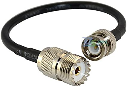 ; UHF PL259 to BNC Male Plug Adapter Jumper Pigtail Cable RG58 MWRF Source BNC Male to PL259 RG58 Cable 3 FT