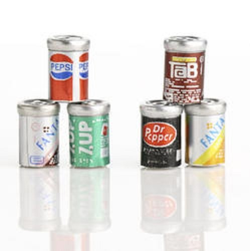 Review Dollhouse Miniature Soda Cans,