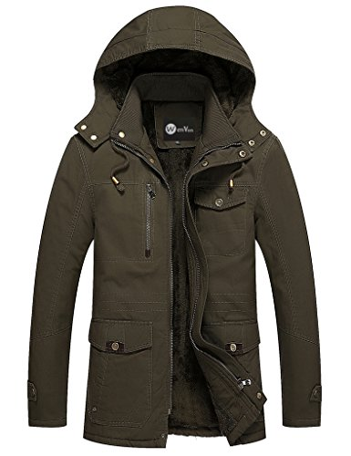 WenVen Men's Winter Windbreaker Thicken  - High Test Jacket Shopping Results