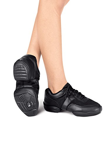 Adult Split-Sole Sneaker,T8000BLK05.5,Black,05.5 by Theatricals