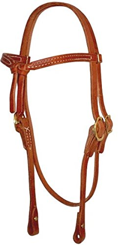 Amish USA Horse Tack Hermann Oak Leather Knotted Browband 975H203 ()
