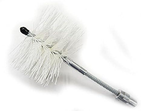 Scovolo D.080 mm. además articulado de nylon para tubos de acero inoxidable, estufa de pellets, chimenea, caldera.: Amazon.es: Bricolaje y herramientas