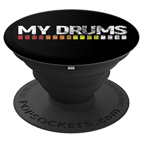 808 My Drums Vintage - Roland EDM Drum Machine - PopSockets Grip and Stand for Phones and Tablets