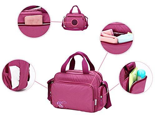 Bolso de mamá de hombro Mamá Fuera del paquete Cuidado de gran capacidad informal Bolsa para la madre y el niño Luz y más bolsillos ( Color : Purple ) Vino rojo