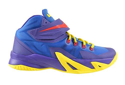 Nike Soldier VIII 8 (GS) Big Kids Shoes Light Photo Blue/Challenge Red-Dark Concord 653645-400 (7 M US)