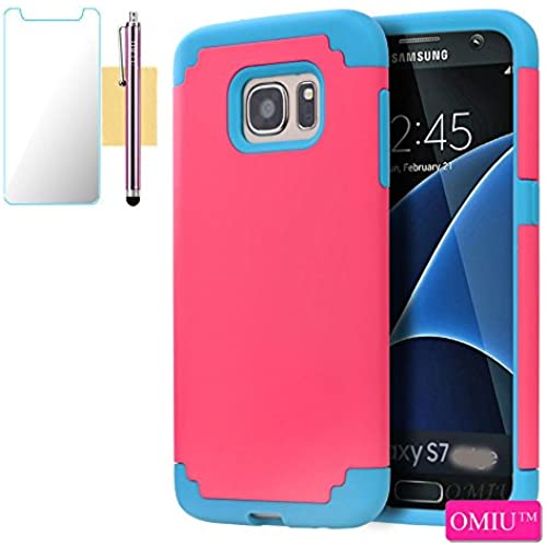 S7 Case, Galaxy S7 Case, OMIU(TM); (Rose Red+Blue) Armor Shockproof Case For Samsung Galaxy S7, Sent Stylus,Screen Protector, Samsung Galaxy S7 Sales