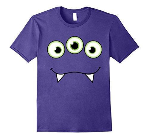 Mens Monster Face Halloween T-Shirt - Cute Monster Costume XL -