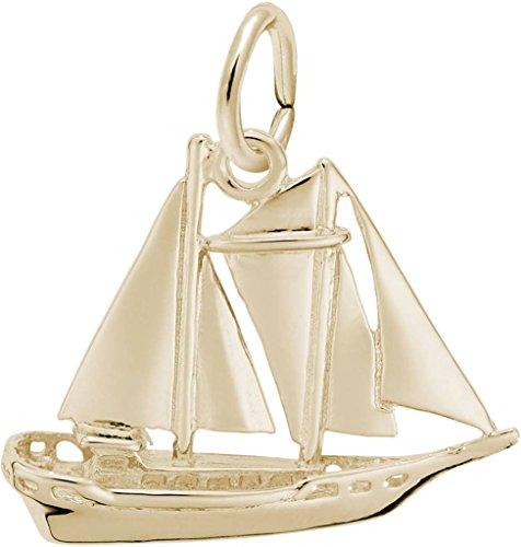 Rembrandt Schooner Sailboat Charm - Metal - 14K Yellow Gold