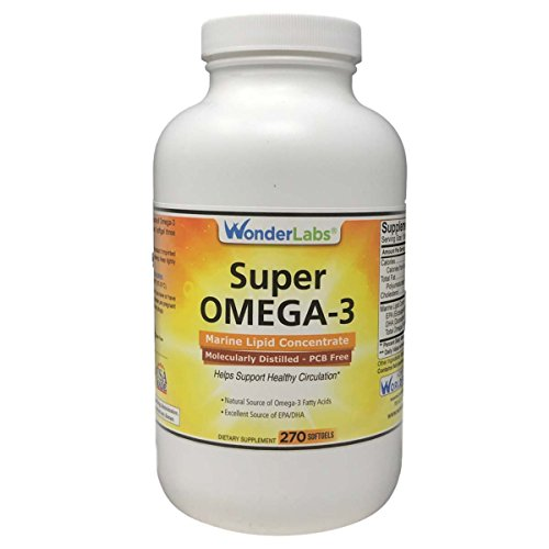 Marine Lipid Concentrate - Super Omega-3 Marine Lipid Concentrate - Molecularly Distilled | Pharmaceutical Grade | Contains: EPA 265mg DHA 170mg - 270 Softgels