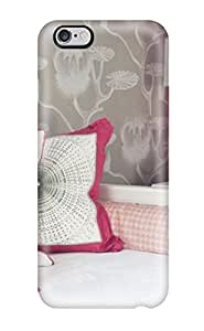 Top Quality Protection White Daybed With Hot-pink Wall And Pops Of Color Case Cover For Iphone 6 Plus