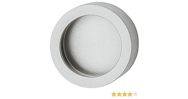 gedotec Mango de puerta de cristal para pegar – Tirador cromado mate, conchas redondo, para puertas de cristal – modelo h3705 | Mango caracola adhesivos | Mango de diámetro: 35 mm, 1