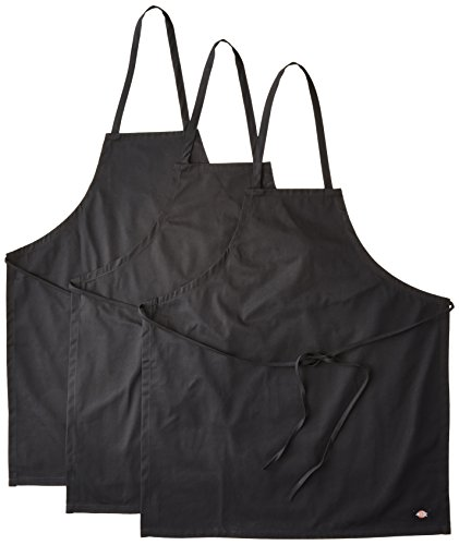 - Dickies Chef  3 Pack No Pocket Bib Apron, Black, One Size