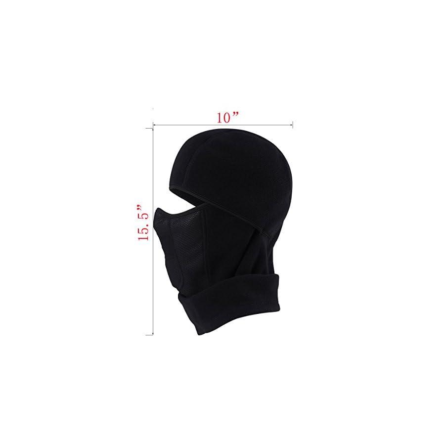 MIFULGOO Balaclava Fleece Hood with Neck Cover Half Face Ski Mask with Air Hole