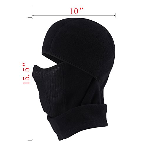 MIFULGOO Balaclava Fleece Hood With Neck Cover Half Face Ski Mask With Air Hole