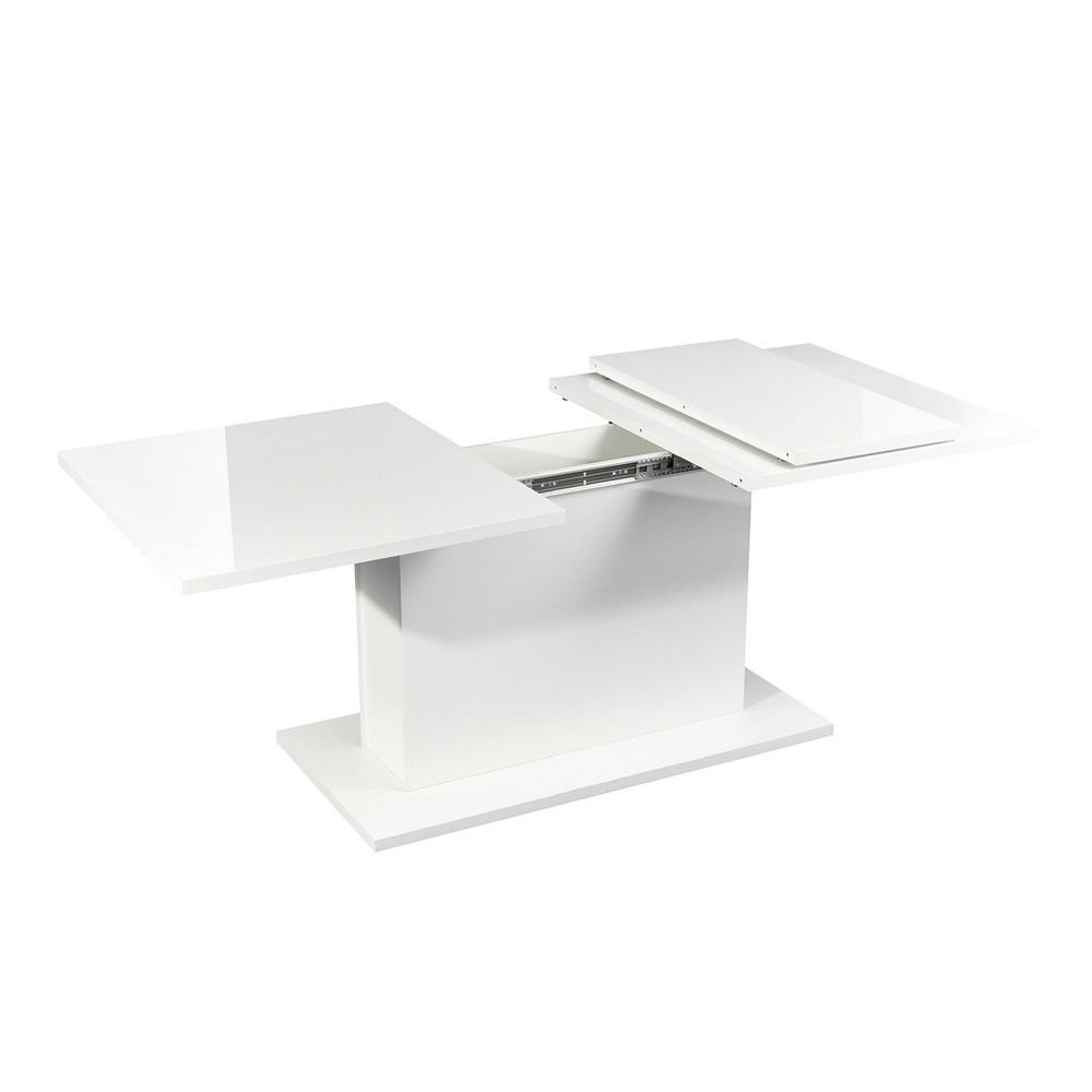 HOMYCASA Scandinavian Extensible Table 160-205 cm Wooden High Gloss White