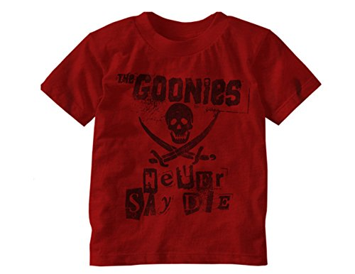 Toddler's The Goonies Never Say Die Red or Grey T-shirt