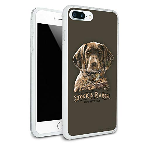 Stock and Barrel Outfitters Pointer Dog Quail Hunting Protective Slim Fit Hybrid Rubber Bumper Case Fits Apple iPhone 8 Plus