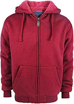 SWISSWELL Fleece Hoodie Men Zip Up Soft Sport Hooded Sweatshirt