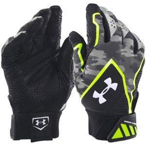 UNDER ARMOUR Yard Undeniable Baseball Batting Gloves 2016 (アンダーアーマー ヤード アンディナイアブル バッティング グローブ) (Black/Yellow, S(22cm-23cm)) [並行輸入品] B01ENRK0SW