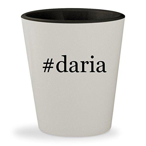 #daria - Hashtag White Outer & Black Inner Ceramic 1.5oz Shot Glass