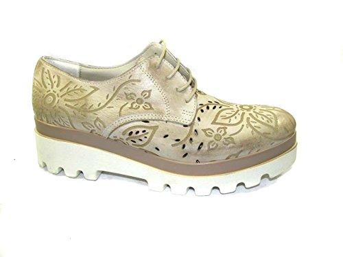 OSVALDO PERICOLI - Zapatos de cordones de Piel para mujer Beige