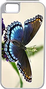 Case For Iphone 5C Cover Customized Gifts Cover Blue Butterfly DesiIdeal Gift