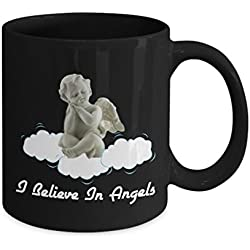 I Believe in Angels Mug-Faith Belief 444 Angels Are With Us-Guardian Angel Protection Numbers