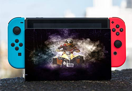 Quad 4 Wheeler in the Smoke Vinyl Decal Sticker Skin by Moonlight Printing for Nintendo Switch Dock (Four Wheeler Games Wii)