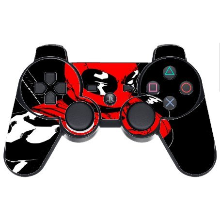 Comic Book Hero PS3 Dual Shock wireless controller Vinyl Decal Sticker Skin by Compass - Game Deadpool Ps3