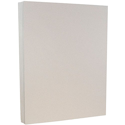 JAM PAPER Recycled 80lb Cardstock - 8.5 x 11 Coverstock - Passport Granite Silver - 50 Sheets/Pack (Business Recycled Cardstock)