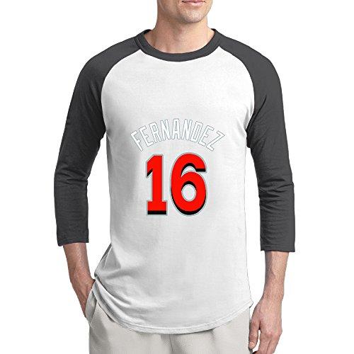 [Jose Fernandez Miami Costume 16 Cool 3/4 Sleeve Baseball Graphic Crazy Tee Shirt Men's Black] (Cubs Fan Costume)