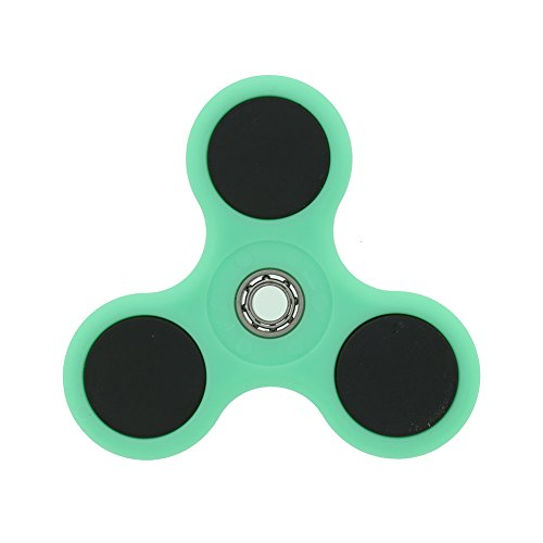 Nicpay EDC Fidget Hand Spinner Toy Stress Reducer – Ultra Fast Bearings Fidget Toys for Adults and Kids (style 2:Green)