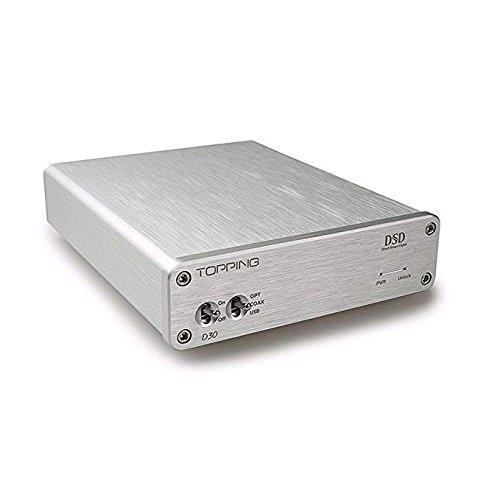 TOPPING D30 DSD Audio Decoder USB Coaxial Optical Fiber XMOS CS4398 24Bit 192KHz (16 Bit Sound Decoder)