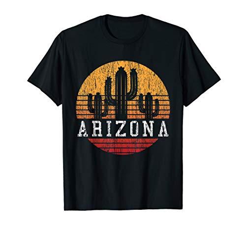 Arizona T-Shirt - Vintage Retro Cactus Shirt - T-shirt Womens Arizona