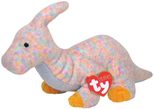 Ty Clomps - Pink Dinosuar (Pluffies Babies Beanie)