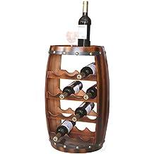 Wooden Barrel Shaped 14 Bottle Wine Rack