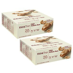 Thin Bar Creamy - Think Thin 20 Pack (2 X Box of 10) (1,200g) - (Creamy Peanut Butter)