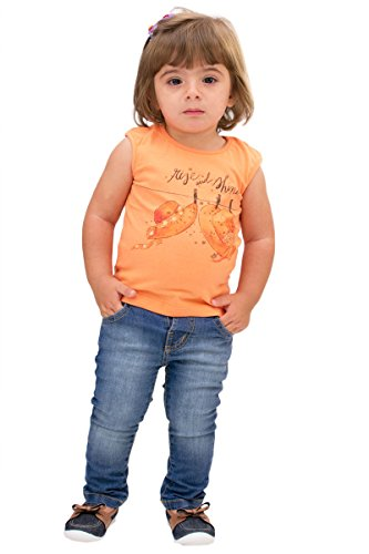 Pulla Bulla Baby Girl Premium Jeans Denim Pants 6-9 Months Light Wash (Pant Denim Pocket Zipper)