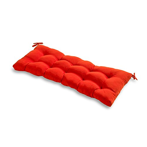 Greendale Home Fashions 51-Inch Indoor/Outdoor Bench Cushion, Salsa ()