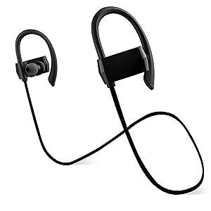 bluetooth headphones earhook kaleep sweatproof noise canceling wireless earbuds. Black Bedroom Furniture Sets. Home Design Ideas