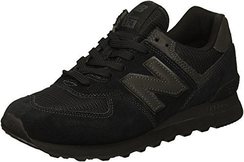 New Balance Men's 574S Sport Sneaker,black/black/black,12 D US