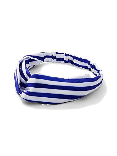New York   Co  Womens Striped Headband 0 Residential Blue