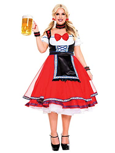 Music Legs Women's Oktoberfest Beer Girl-Plus Size, Red, 3X/4X]()